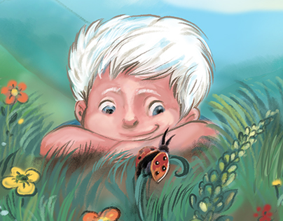 Albino kid book illustrations written by Eydan Or