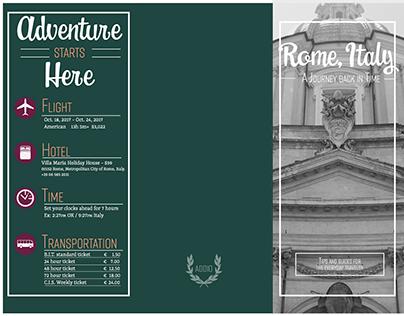 Rome, Italy Travel Brochure