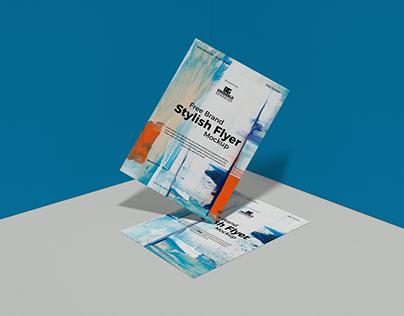 Free Brand Stylish Flyer Mockup Design