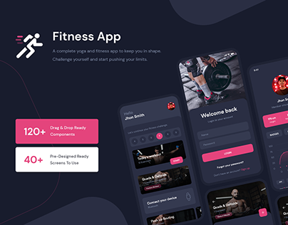Fitness Workout App UI Kit