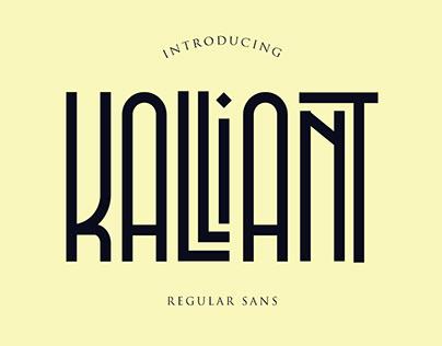 Kalliant regular sans font