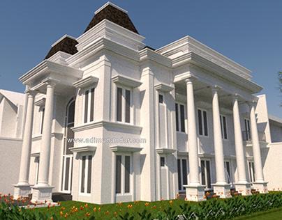 Desain Rumah Klasik Mr Julianto Graha Family Surabaya