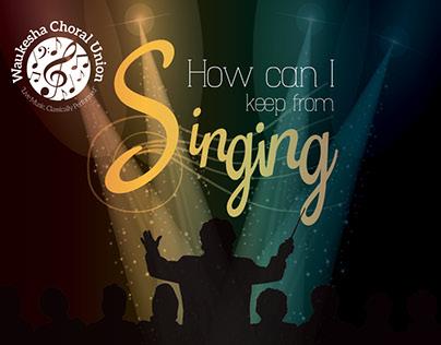 Waukesha Choral Union 15/16 Marketing Materials