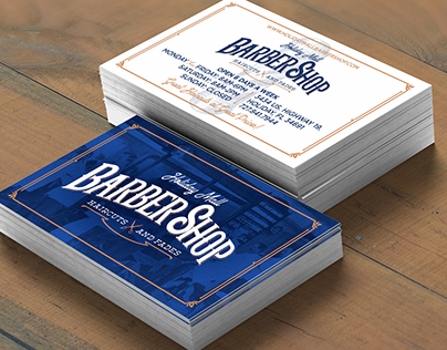 HOLIDAY MALL BARBERSHOP | BUSINESS CARD DESIGN