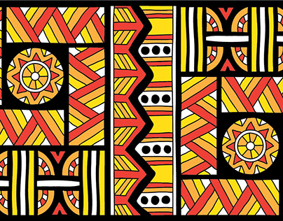 Tribal patterns. Coloring pages