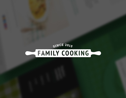 Family Cooking – food blog design
