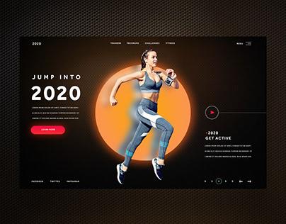 Jump Into 2020 Fitness Ui Design Concept