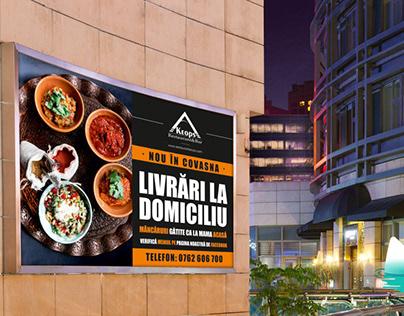 Grafica banner / afis outdoor Restaurant Keops