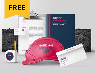 Free Construction Branding Mockup Bundle