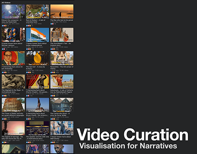 Video Curation || Visualisation for Narratives