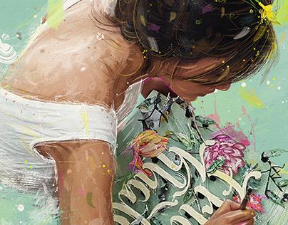 LETRAS Y MUCHA FLOR -Frida Khalo