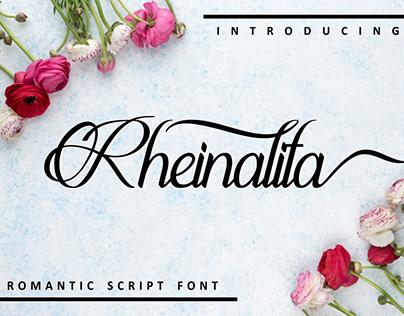 Rheinalita script font