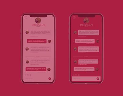 Design application mobile - Messagerie