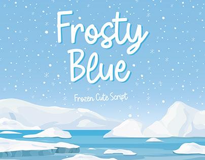 Frosty Blue - Cute Handwritten Fonts