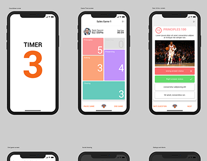1HUDLE Native app mockups