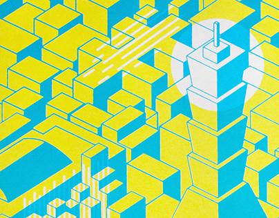 Geometric Xinyi | Serigraph 2019