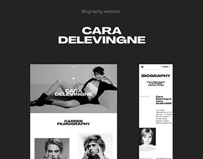 Cara Delevingne | Biography website