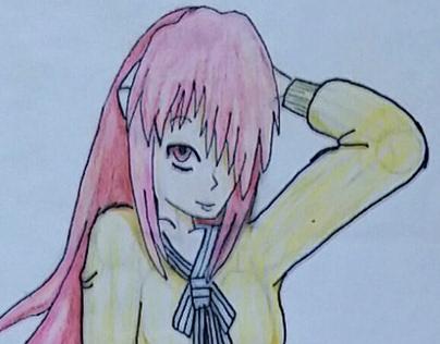 Kaede wearing Misaki's clothes