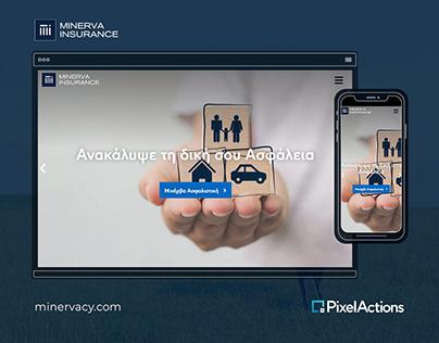 Web design & development for Minerva Insurance