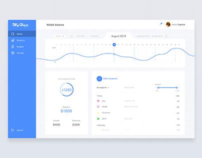 Money / finance / budget management app desktop