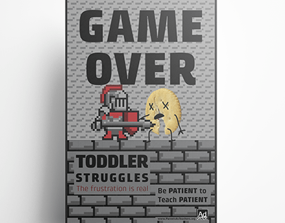 GAME OVER - A PSA series for parents of toddlers