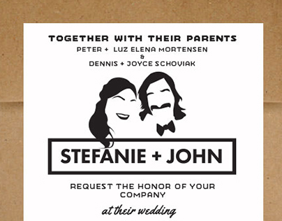 Stefa + John Wedding Invite