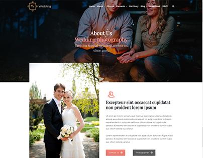 About Page - Wedding WordPress Theme