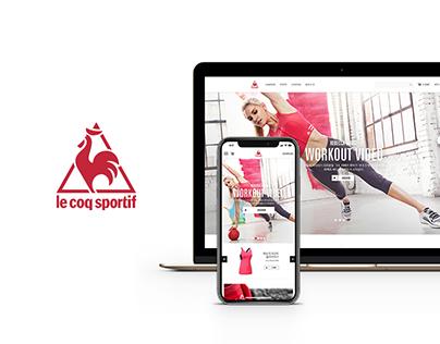 Lecoq sportif Brand Site Renewal