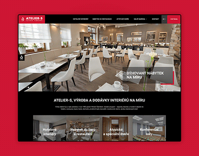 Webdesign UX/UI - Custome interiors for hotels