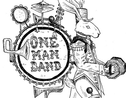 One Man Band - tshirt design