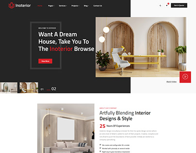 Inoterior - Interior Designer Html5 Template