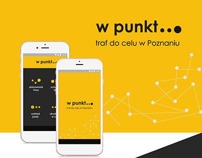 W punkt...aplikacja ułatwiająca transport w Poznaniu