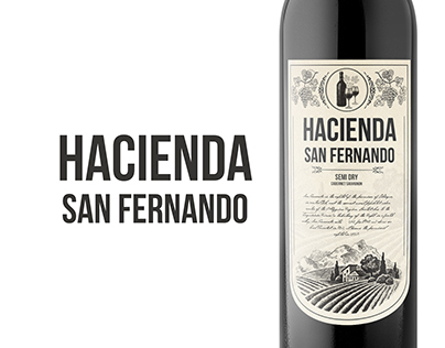 Hacienda San Fernando - wine packaging