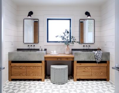 Concrete sink for master bathroom
