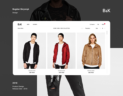B&K (Website, Online shop, Fashion)