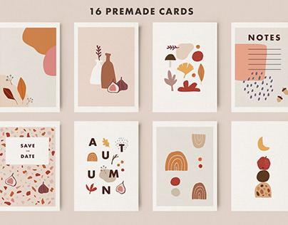 120+ Abstract geometric autumn set