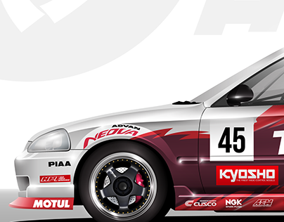 Honda Civic vector illustration
