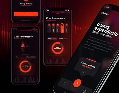 Poney Music App - UI/UX Design