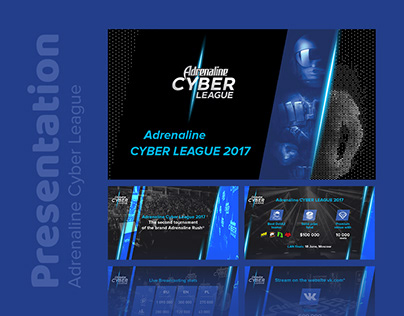 Adrenaline Cyber League presentation design