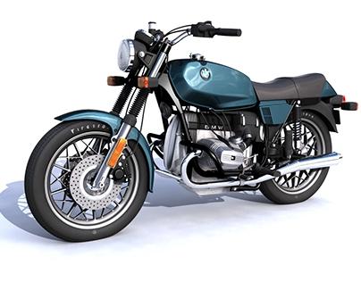 BMW R65 MOTORCYCLE MAYA MODEL