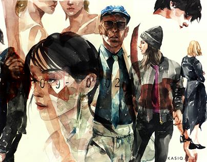 kasiq fashion illustration series #12