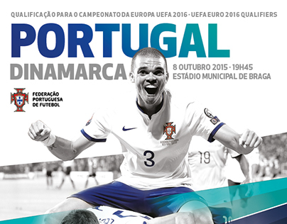 FPF . Portugal-Dinamarca . Official Match Programme