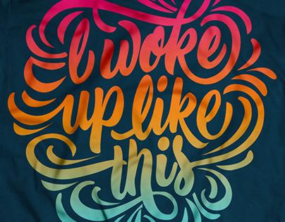 Typographical Tshirts Designs