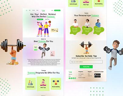 Fitness Website UI   fitness jock