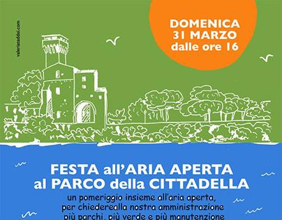 poster for association Senzaquartiere, Pisa