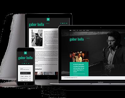 Responsive website of Gabor Bolla
