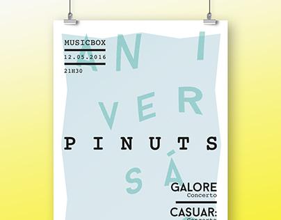 Pinuts Anniversary // A3 poster + GIF
