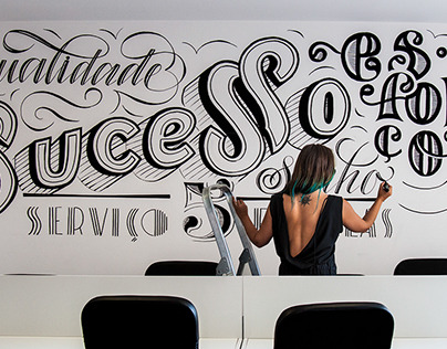 Sign painting Remax Real Estate agency Lisbon