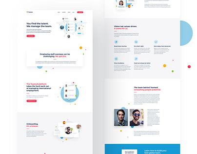 Teamed Webflow Website Design
