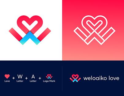 (W+A) Letter Logo Mark
